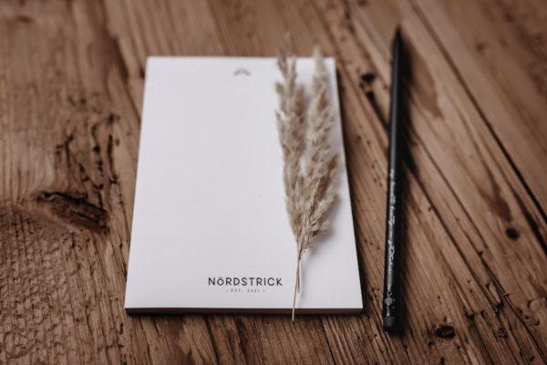 nordstrick Notizblock A6 Block Naturpapier Bleistift