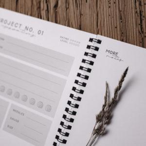 nordstrick Notizbuch Knitting Planner A5